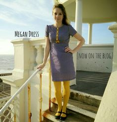 Megan Dress made from the pattern in Tilly Walnes' Love At First Stitch