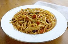 Spaghetti alla puttanesca-one of the healthiest pasta dishes you can eat.