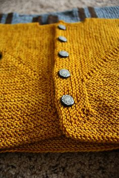 """From Ravelry: Wileycomma's """"Baby Surprise Jacket,"""" knit in Colinette Jitterbug."""