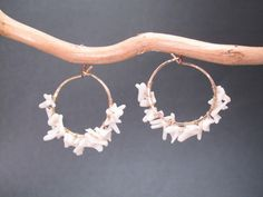 Cleopatra 106 Hammered hoops wrapped with by CalicoJunoJewelry, $76.00
