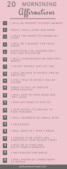 20 Morning Affirmations To Start Your Day -