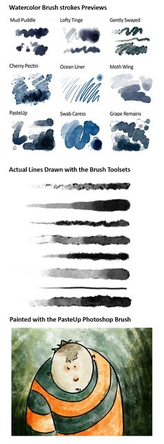 Realistic Responsive Watercolor Brushes Photoshop #ps #brushes Download: http://graphicriver.net/item/realistic-responsive-watercolor-brushes/9520105?ref=ksioks