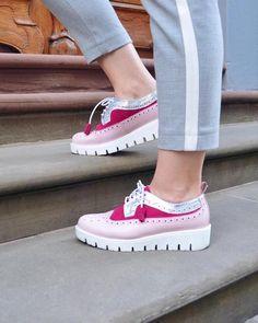 daae492d1ada Lovidovi - Pink Silver Oxford Shoes Schuhe  handmade  ethical  stylish   slowfashion. Oxford HeelsΓυναικεία ΠαπούτσιαΧειροποίητο