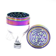 1PCS Metal Zinc Alloy Maze Herb Grinder New Funnel Shape 7 Colors 52MM 63MM 3 Parts Smoking Crusher Spice Muller Tobacco Grinder