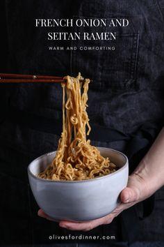 Beef Noodle Soup, Beef And Noodles, Ramen Noodles, Seitan Recipes, Vegetarian Recipes, Vegan Blogs, Vegetarian Cooking, Healthy Recipes, Vegan Ramen