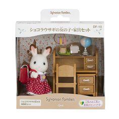 $13.99 - Sylvanian Families Chocolate Rabbit Girl & Study Desk Set Epoch Calico Critters #ebay #Collectibles