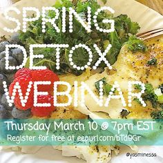 Register at http://ift.tt/1QJNtMv This is happening in T minus three hours inshaAllah (Godwilling). Join me and 27 women (and counting) all over the globe. We will be talking about detoxing mentally physically and spiritually. This free webinar is sponsored by my 7 day Spring Detox program kicking off on 3/20 inshaAllah (Godwilling). #healthyliving #spring2016 #webinar #springdetox #wellnesswithyasmin #springiscoming #holistichealth #fitmuslim #fithijabi #mindbodysoul