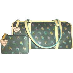 #VintageBeginsHere at www.rubylane.com @Ruby Lane Vintage --Vintage Dooney and Bourke Barrel Bag