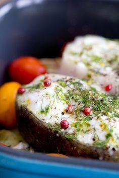 Recept: heilbot met aardappelen en venkel uit de oven)