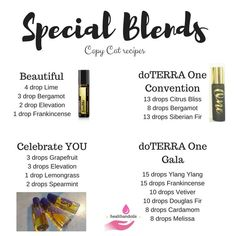 doTERRA special rollerball blends 'copycat' recipes beautiful one celebrate you Essential Oil Perfume, Essential Oil Uses, Perfume Oils, Esential Oils, Essential Oil Diffuser Blends, Doterra Essential Oils, Doterra Blends, Osho, Copycat Recipes