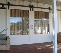 Barn Door Patio Doors! LOVE THESE