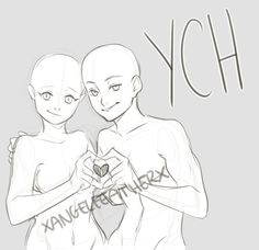 YCH Couple B [CLOSED] by XAngelFeatherX.deviantart.com on @DeviantArt