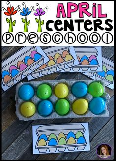 April and Spring Hands on Centers for Preschool