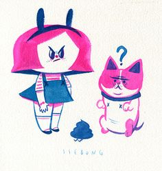 Girls and somethings. by Ssebong Kim, via Behance