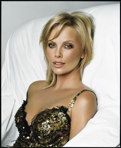 brown bronze eyes makeup charlize theron