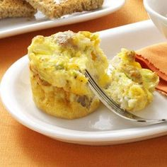 Scrambled Egg Muffins Recipe from Taste of Home -- shared by Cathy Larkins
