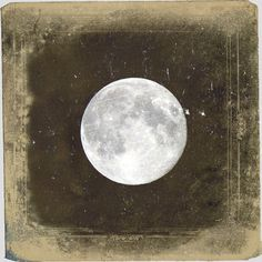 "Vintage Full Moon Photo ""Blue Moon"" Ethereal Night Sky Stars Photograph Print - Fine Art Gothic Antique Victorian Photo. $25.00, via Etsy."