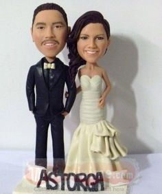 WowMiniMe, custom cake toppers personalized made from your own photos Personalized Cake Toppers, Custom Wedding Cake Toppers, Wedding Cakes, Special Wedding Gifts, Custom Wedding Gifts, Champagne Colored Wedding Dresses, Black Tux, Custom Cakes, Bride