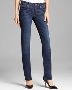 7 For All Mankind Jeans - Kimmie Straight in La Verna Lake