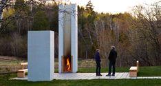 Mood board inspiration - outdoor fireplace  Modern Classroom by Salmela Architect | Plastolux