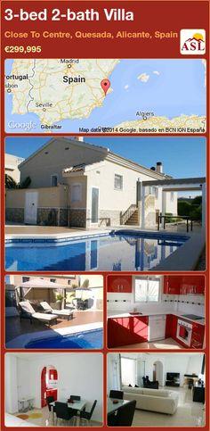 3-bed 2-bath Villa in Close To Centre, Quesada, Alicante, Spain ►€299,995 #PropertyForSaleInSpain