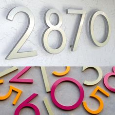 Modern Dwell Numbers make the highest quality house numbers you'll find. Each modern house number is made from recycled 3/8″ thick architectural grade aluminum, using recycled garnet in the cut process. And every house number is finished by hand and thoroughly inspected to meet their high standards. Even their packaging is made from recycled material.