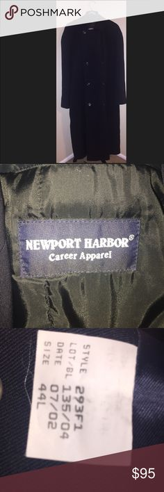 Newport Harbor trench coat Newport Harbor trench coat dark navy blue double-breasted trenchcoat Men's 44L trenchcoat, gently worn. Like new ! you can remove the inside liner Newport Harbor Jackets & Coats Trench Coats