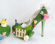 Fairy garden high heel house!