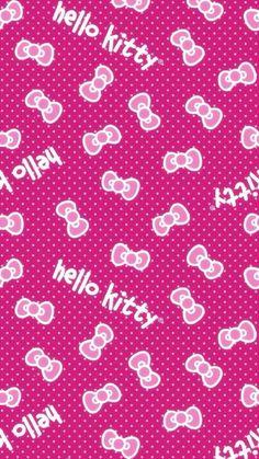 #hellokitty Bow Wallpaper, Pretty Phone Wallpaper, Apple Wallpaper, Iphone Wallpaper, Hello Kitty Bow, Hello Kitty Themes, Hello Kitty Pictures, Kitty Images, Hello Kitty Backgrounds