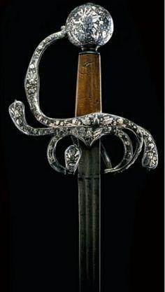 A Fine & Rare English Rapier w/ Silver Encrusted Hilt, ca 1620  ~Repinned Via chiritescu zeno