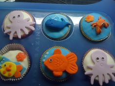 under the sea cupcakes by cakerunner, via Flickr