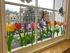 Crafts To Make, Crafts For Kids, Arts And Crafts, Paper Crafts, Big Flowers, Paper Flowers, Spring Crafts, Tulips, Origami