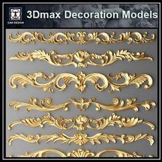 3D Max Decoration Models V.3 3d Design, Store Design, Wall Design, Free Design, Residential Interior Design, Best Interior Design, Traditional Home Decorating, Autocad, Neoclassical Interior