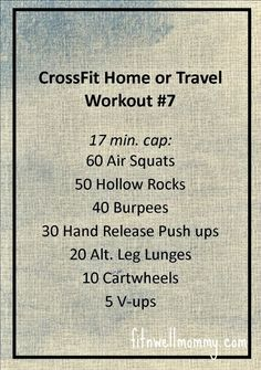 CrossFit Home or Travel WOD #7