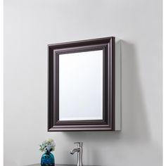 H X 5 1/2 D Framed Bathroom Recessed Or Surface Mount Bathroom Medicine  Cabinet In Oil Rubbed Bronze