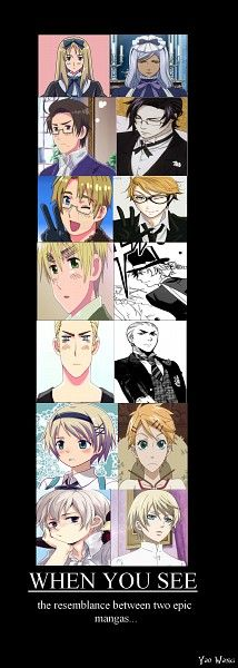 I wish I can watch Hetalia and Black Butler at the same time, can you imagine this two anime turning into one anime?