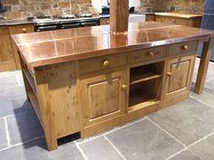 Lovely Beaten Copper Worktop. Country Kitchens Of Devon Gallery