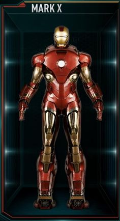The Mark X (10), was the first Advanced Iron Man Suit, and was the tenth suit created and built by Tony Stark, after the successful completion of the Mark IX...