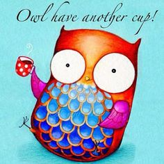cute #coffee owl