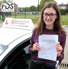 ongratulations to Kathryn Burke who passed her practical Driving Test today the 4th May 2017 and with only 2 driving faults. Very well done and best wishes from your Driving Instructor Chris and all of us here at Flexdrive Driving School.    Kathryn from Wollaston School had driving lessons in Wellingborough with Flexdrive Driving School. #drivinglessons #learntodrive #wellingborough