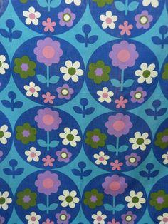 Org Vtg 60s Fabric DIY Retro Wall Art  LISA  by Bridget Swabey Moygashel 48 x 65