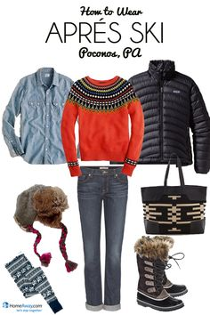 Packing for Après Ski, Ski Clothes Packing List - HomeAway Vacation Ideas - Winterfashion Ski - Apres Ski Mode, Mode Au Ski, Apres Ski Party, Vacation Ideas, Ski Vacation, Vacation Fashion, Vacation Packing, Voyage Ski, Winter Wear