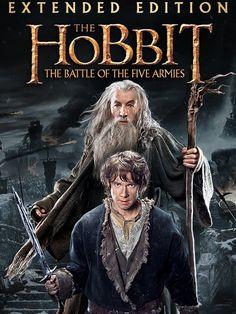 The Hobbit: The Battle of the Five Armies (Extended Edition) Movie Poster - Ian McKellen, Martin Freeman, Richard Armitage Streaming Vf, Streaming Movies, Tv Series Online, Movies Online, The Hobbit Thorin, Bilbo Baggins, Gandalf, Azog The Defiler, Sir Ian Mckellen