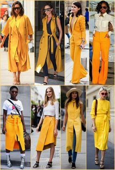 Tendência Verão 2018: Amarelo açafrão (e similares)! Look Fashion, Womens Fashion, Warm Weather Outfits, Yellow Fashion, Mode Hijab, Mode Vintage, Pulls, Casual Looks, Summer Outfits