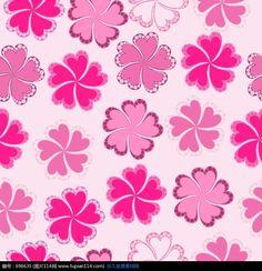 可爱的粉色花朵底纹