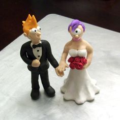Custom Futurama Wedding Cake Toppers. $34.00, via Etsy.