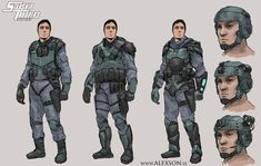 StarShip Troopers Mobile Infantry by on DeviantArt Sci Fi Armor, Sci Fi Weapons, Character Art, Character Design, Character Concept, Concept Art, Combat Suit, Armor Clothing, Starship Troopers