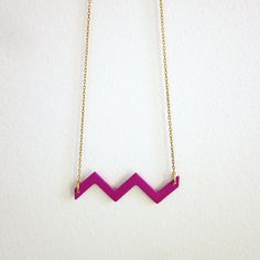 Spring in the Pyrenees geometric necklace by LineaLinea
