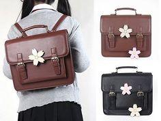 Sakura-Japanese-Student-Uniform-PU-Leather-School-Backpack-Shoulder-Bag-2-Colors