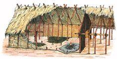 Reconstitution d'un habitat néolithique de Charavines (Houot)